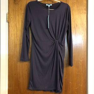 She + Sky Navy Long Sleeve Dress Size Large